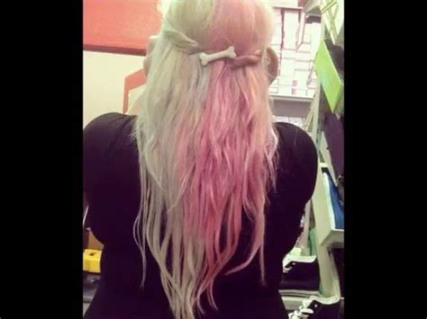dying  hair  pink   blonde youtube