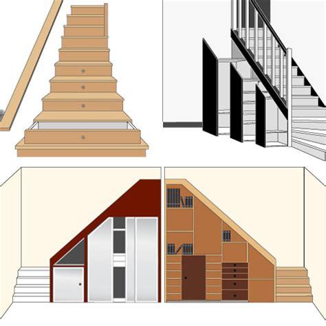 placard rangement installer un placard sous votre escalier