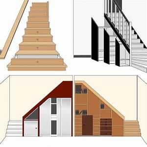 Placard Escalier : placard rangement installer un placard sous votre escalier ~ Carolinahurricanesstore.com Idées de Décoration