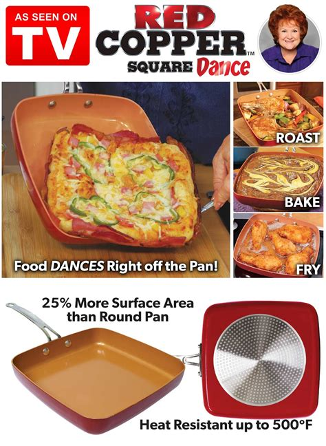 red copper square dance pan carolwrightgiftscom