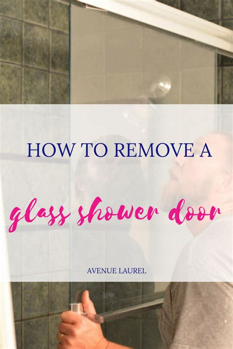 How To Uninstall A Shower - how to remove a glass shower door avenue laurel