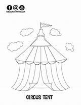 Circus Coloring Tent Printable Printables Getdrawings Imagination Clown Exclusive Getcolorings Drawing sketch template