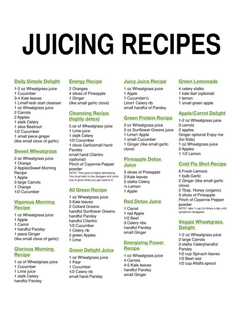 recipes juice loss juicing weight amazing healthy juices food growth