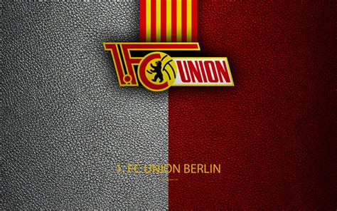 wallpapers union berlin fc logo  leather