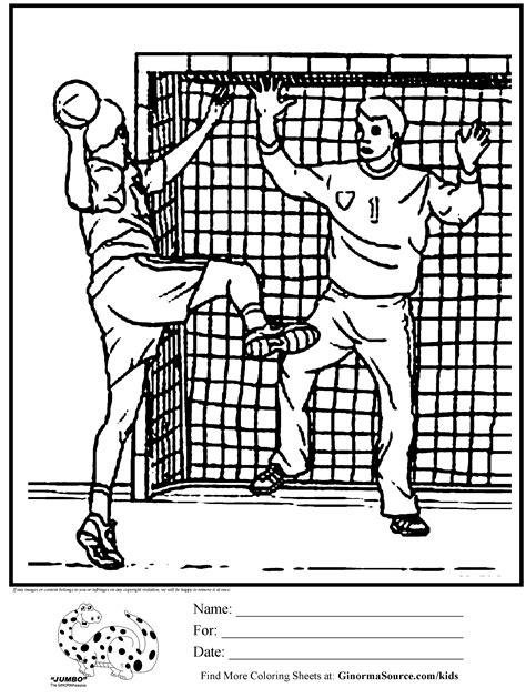 Kleurplaat Handbal by Olympic Handball Coloring Page Activities