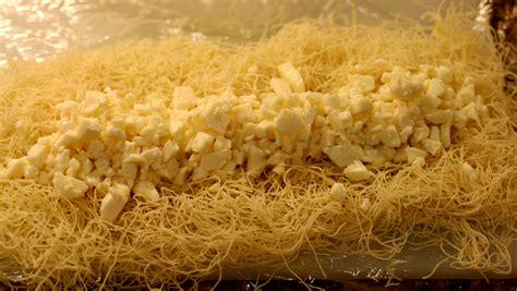 shredded phyllo pastry  cheese kunafa bi jibin