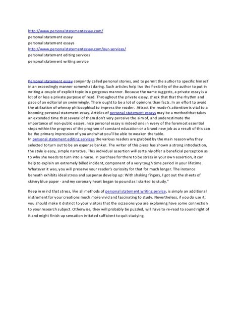 personal statement essay sle 28 images personal