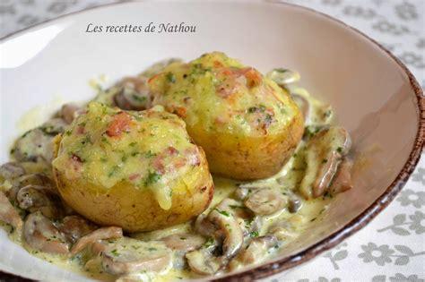 recette de cuisine pomme de terre pommes de terre farcies au lard et reblochon chignons