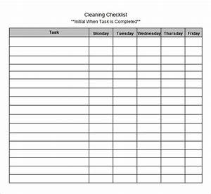 Sample blank checklist template 27 documents download for Blank checklist template pdf