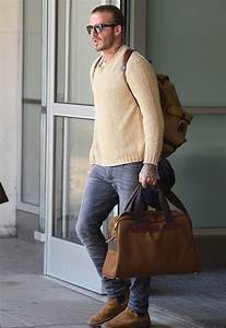 David Beckham Arrives in NYC Wearing Saint Laurent Boots ...