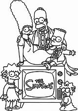 Simpsons Coloring Colouring Halloween Simpson Printable sketch template
