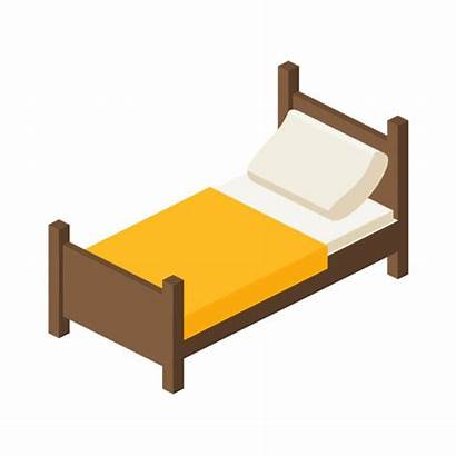Bed Vector Twin Clip Wooden Person Illustrations