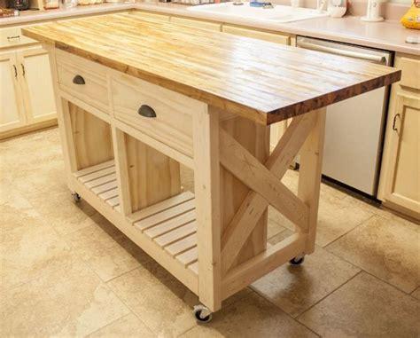 mobile kitchen island ideas  pinterest