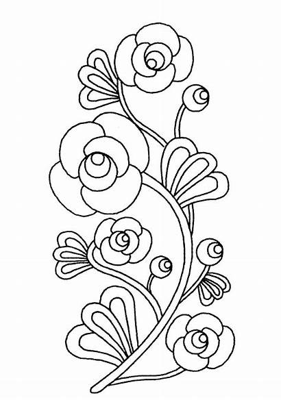 Flowers Coloring Flower Simple Pages