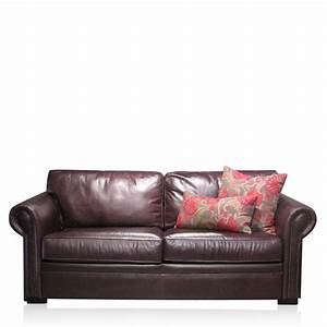 Huntley australian leather sofa bed by sofa studio sydney for Leather sofa bed