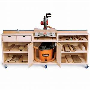 Woodworker's Journal - Ultimate Miter Saw Stand Plan