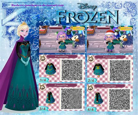Where Do You Buy Wallpaper In Animal Crossing New Leaf - animal crossing new leaf qr elsa from frozen by