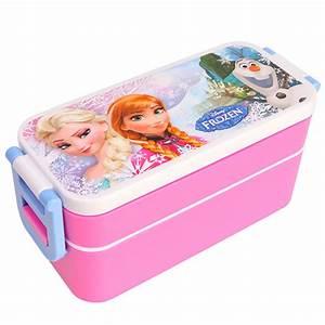 Disney FROZEN School Work Bento Lunch Box Plastic Storage ...