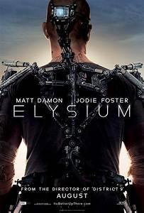 ELYSIUM Poster. ELYSIUM Stars Matt Damon, Jodie Foster ...
