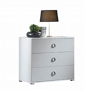 Commode Gris Laqué : commode 3 tiroirs karen laqu gris clair brillant blanc gris clair ~ Teatrodelosmanantiales.com Idées de Décoration
