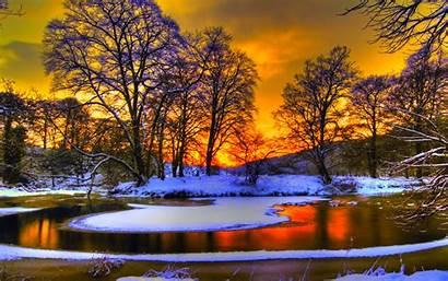 Winter Desktop Wallpapers Sunset Pixelstalk