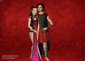 Aphrodite and Ares by dracarysVG on DeviantArt