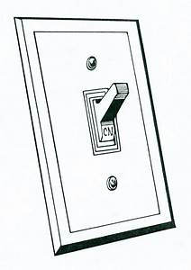 electricity clipart light switch pencil and in color With electrical switches
