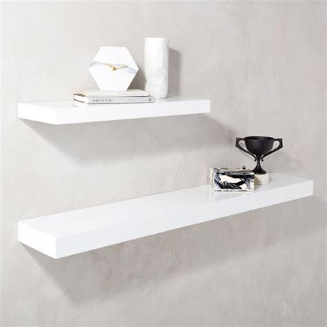 calvin  gloss white floating shelves cb