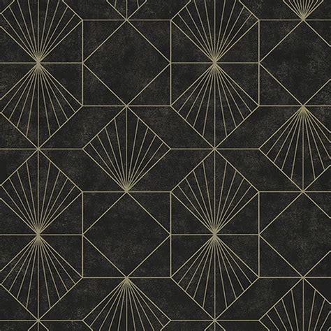 halcyon black geometric wallpaper wallpaper