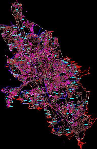 map chilpancingo de los bravos mexico dwg plan