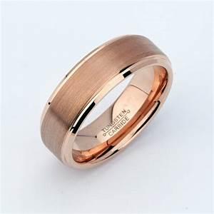 rose gold tungsten mens wedding bandtungsten wedding band With mens rose gold wedding rings
