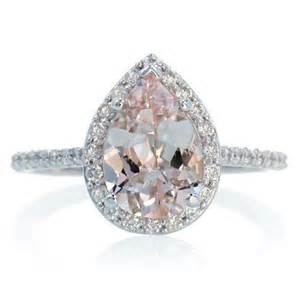 pear shaped engagement rings 14k white gold pear cut morganite engagement ring shape