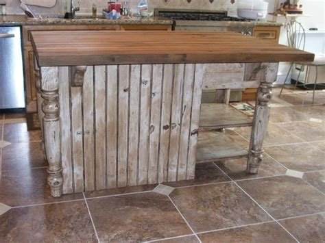 distressed white kitchen island  butcher block furniture   barn