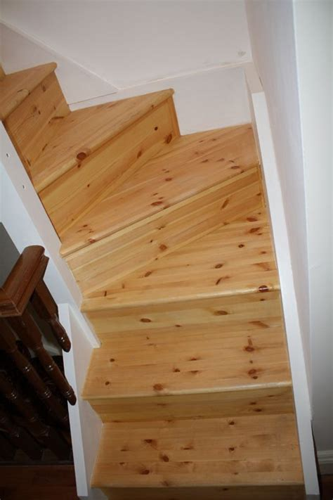 double winder staircase  red deal leading  attic