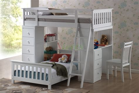 childrens bunk beds with desk huckleberry loft bunk beds for kids with storage desk