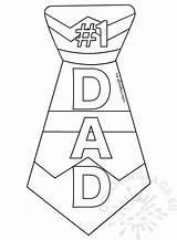 Dad Tie Template Printable Coloring Father Templates sketch template