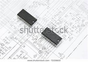 Silicon Chip On Wiring Diagram Stock Photo  Edit Now  72158833