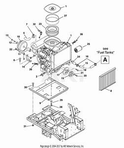 Gravely 992036  000101 - 000999  27 Hp Kawasaki 60 U0026quot  Deck Parts Diagram For Engine