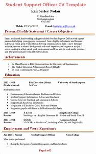 student support officer cv template 1 With cv format for student