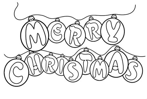 merry christmas bubble writing colouring pages 4th of