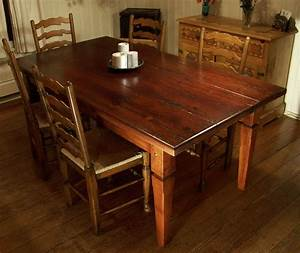 Heirloom workshops reclaimed wood dining table tapered for Barnwood kitchen table and chairs