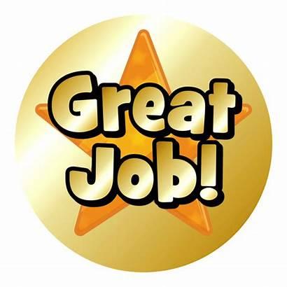 Star Gold Stickers Praise Job Metallic Mini