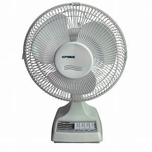 Optimus 16 U0026quot  Oscillating Table Fan - Appliances