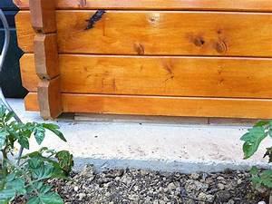 Comment fixer un abri de jardin sur une dalle beton Les