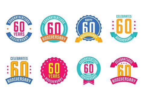 anniversary emblems   vectors clipart