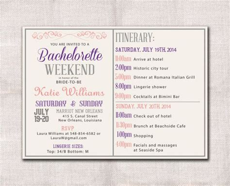 bachelorette itinerary template free 1000 images about winter bachelorette on