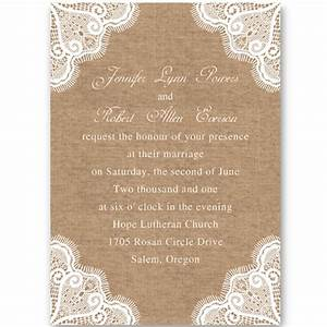 rustic burlap and lace wedding invitations ewi244 as low With free printable burlap wedding invitations