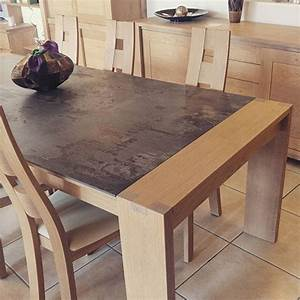 Table Plateau Bois : fabrication sur mesure de table en bois delorme meubles ~ Teatrodelosmanantiales.com Idées de Décoration