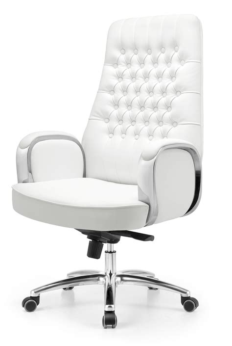 desk chair white leather