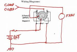 Rear A  C Condenser Fan Relay Wiring Diagram